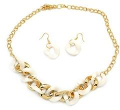 5th Avenue White Necklace P2630A-5