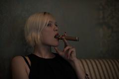 enjoy (Lucky Rubi) Tags: colour girl beauty cigar smoking blond chill zigarre farben rauch rauchen