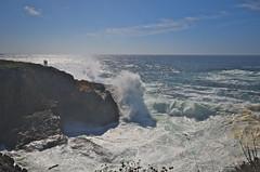 The Cauldron (nebulous 1) Tags: people seascape nature nikon waves explore pacificocean russiangulch thecauldron heavyseas d7000 nebulous1 russiangulchcaliforniastatepark