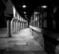Vanishing Point (Mortarman101) Tags: monochrome wales night caernarfon 2015