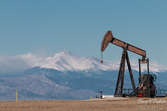 January 17, 2015 - An oil pumpjack sits on the plains north of Denver. (Tony's Takes)