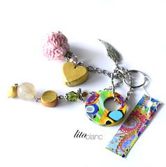 Porte Bonheur + Lita Blanc (Lita Blanc) Tags: de sac bijoux porte bonheur multicolor cle accesorios llaveros