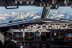 The Alps from the Boeing 737 cockpit (gc232) Tags: from above snow mountains alps bird turn alpes plane work canon airplane fly flying view panel angle earth live aircraft altitude seat aviation flight jet bank cockpit aerial deck airline captain nd boeing 24mm instruments overhead turning pilot flightdeck airliner pilots pfd b737 737800 boeing737 737700 737ng 88mm fmc airlinersnet 737900 b737800 avgeek b737700 g7x b737900 jetphotos b737ng golfcharlie232