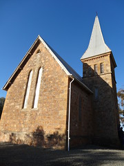 Bungaree. Clare Valley. The Hawkers built an Anglican Church on their pastoral estate in 1864. (denisbin) Tags: people church store stainedglass spire homestead mansion pews anglican hawkers clarevalley sheepstation bungaree stationstore