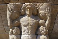 Brunnenfigur aus Bad Nauheim (JohannFFM) Tags: brunnen bad sandstein figur nauheim kalkstein
