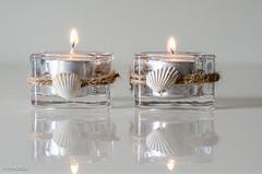 Flickr Flicker (BGDL) Tags: glass seashells reflections candles tealights candleholders weeklytheme niftyfifty nikond7000 fireorflame bgdl afsnikkor50mm118g flickrlounge lightroomcc