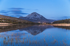 Errigal (Inch Eyeland Images) Tags: old longexposure flowers blue trees ireland lake plant flower tree texture love water field forest reflections reeds landscape countryside flora rocks exposure colours village outdoor tranquility bluemountains velvet kangaroo bluehour hillside liquid donegal eveninglight errigal codonegal dunlewey irelanddonegal westdonegal wildatlanticway earagil