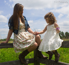 Rebecca & Chloe11 (to.photography) Tags: park family blue red summer brown sun white flower green love nature girl grass sunshine yellow laughing fence walking mom outside outdoors photography warm child dress purple photoshoot boots pair spin mommy daughter mother smiles warmth chloe mama dresses shade spinning rrr cowgirl rd cvr owens barndoor cowgirlboots motherdaughtershoot tophotography jumpingg taylorwowens rebeccarackley chloerackley