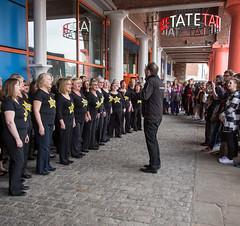 366-134 - Rock Choir (Ruth_W) Tags: music festival liverpool 365 albertdock merseyside lightnight rockchoir