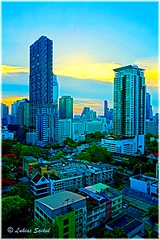 Digital City IV (lukiassaikul) Tags: creativephotography photopainting digitalpainting cityscape imagemanipulation buildings architecture bangkok thailand hdr