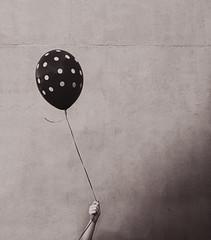 Balloon (__will) Tags: blackandwhite bw white black balloon minimal minimalism minimalist denton