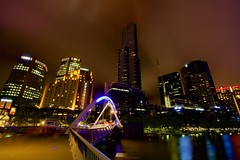 City of blinding lights.. (dmunro100) Tags: longexposure summer canon river eos cityscape nightshot australia melbourne wideangle victoria southbank yarra 60d canonefs1018mmf4556isstm