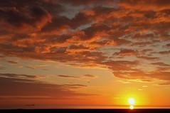 Torness Coastal Sunrise - Torness Scotland (Gilli8888) Tags: sunrise torness dunbar scotland coast coastline sun sea seaside clouds ship merchantship