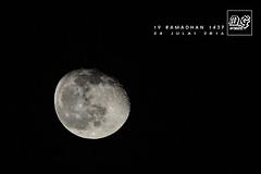 Puasa ke-19 (Demam Gambar) Tags: puasa bulan separa purnama penuh