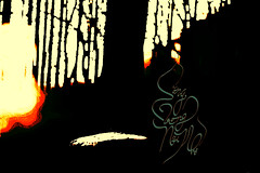 Sng Trong Ni Nh (Nguyen Thanh Binh (hahanguyen22)) Tags: light sunset abstract art texture nature illustration forest typography photography design artist sundown natural designer drawing modernart text fineart letters lettering calligraphy miss typo handlettering