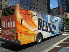 Star Trek Beyond - The Bus 2180 (Brechtbug) Tags: show street new york city nyc fiction bus film television trek computer movie poster star tv jj theater mr theatre manhattan district space rip ad broadway science double billboard midtown sidewalk ave captain spock scifi series beyond anton 1960s avenue abrams 8th futuristic kirk generated 45th decker the 2016 standee standees yelchin 07042016