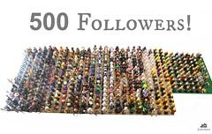 500 followers! (Jamesbrick) Tags: lego follow minifig 500 followers minifigure minifigures jamesbrick