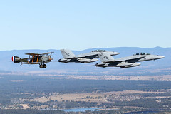 Bristol and Super Hornets (CanvasWings) Tags: bristol f2b raaf superhornet fa18f tavas royalaustralianairforce raafamberley theaustralianvintageaviationsociety