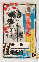 Black and White Flowers (Lydia's Post) Tags: collage mixedmedia crewel floralart paperart scrapart