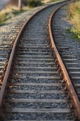 Rail away (Kiwi Jono) Tags: pentax steel rail rails fade curve samyang85f14 pentaxk5