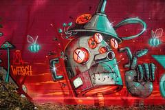 Super graff et rencontre de l'arstiste Stom500 ! (Stphane LANDMANN) Tags: stom500 street graff graffiti graffeur artiste art streetart peintre peinture extrieur downtowngraffiti spray sprayart robots robot