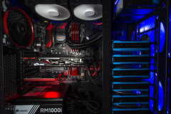 """Upgrade (Larry """"Shooter"""" Gipson) Tags: blue red computer gaming electronics corsair fans thermaltake msi gskill"""
