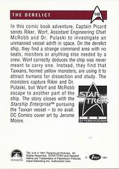 Star Trek The Next Generation Trading Card 148 Back (zigwaffle) Tags: startrekthenextgeneration startrek trading card sciencefiction 1991 impel paramount 25thanniversary