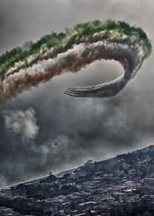 Frecce Tricolori (Fabrizio Maffei) Tags: city sea clouds airplane mac italia colours frecce tricolori fumo tricolore aerei nuovole