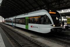 Thurbo => Die Regionalbahn ( SBB ) GTW RABe 2/8 526 794 AKL ( Gelenk - Triebwagen - Nahverkehrszug ) von Stadler Rail mit Taufname Chur am Bahnhof St. Gallen im Kanton St. Gallen in der Schweiz (chrchr_75) Tags: november train schweiz switzerland suisse swiss eisenbahn zug christoph svizzera bahn treno schweizer 2014 1411 suissa chrigu bahnen chrchr hurni chrchr75 chriguhurni albumbahnenderschweiz chriguhurnibluemailch november2014