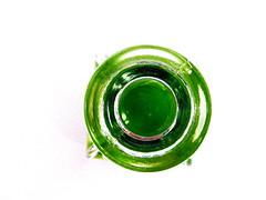 looking down a bottle neck (Jackal1) Tags: green glass neck bottle top