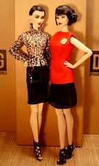 Ayumi & Kyori (Deejay Bafaroy) Tags: red portrait brown black rot fashion toys dangerous shoes doll dolls know barbie porträt to braun fr opium schuhe schwarz royalty ayumi puppe puppen sato integrity animalprint fr2 jasonwu kyori