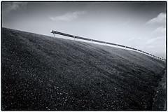 Am Deich (duesentrieb) Tags: blackandwhite bw germany landscape deutschland infrastructure sw schwarzweiss landschaft dike schleswigholstein infrastruktur deich eiderstedt tumblr
