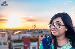 Sunset with a Beauty (Onnesion) Tags: sunset beauty dhaka bangladesh abid tonima uttara onnesion