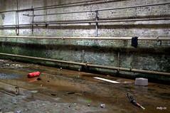 Water leak (Piou[mDp]) Tags: factory abandonedplace lieuabandonné urbex urbanexploration explorationurbaine abandoned textile mill waterleak canalisation piping decay lost forgotten