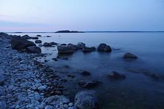 Sweden 2014 (SS) Tags: longexposure blue light sea summer sky holiday water island photography coast rocks angle pentax sweden stones atmosphere tones k5 2014