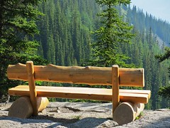 Banff NP ~ Lake Agnes Tea House (karma (Karen)) Tags: canada topf25 alberta benches teahouse 4summer lakeagnes canadianrockies hbm banffnp htmt canadanationalparks benchmonday