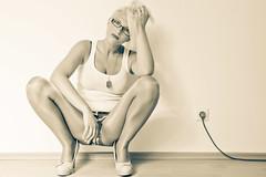 IMG_8479 (DirkP.) Tags: white highheels legs jeans pantyhose nylons hotpants backround