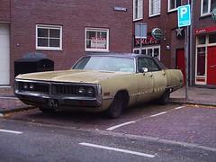 Dr. Lowrider (QQ Vespa) Tags: old car vintage heineken us ami newport oldtimer chrysler chic custom lowrider cruiser shabby chysler uscar cuising amischlitten slowrider strasenkreuzer
