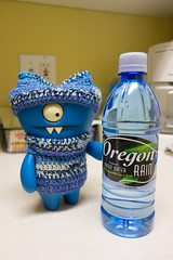 Uglyworld #2500 - Times For Rains - (Project On The Go - Image 330-365) (www.bazpics.com) Tags: new november blue wool water cookies rain oregon project toy hotel blog bottle day action handmade crochet steps vinyl knit daily website figure jumper 365 adventures custom uglydoll total hillsboro suites marriot wedgie uglydolls 26th 2014 wedgehead towneplace uglyworld prettyugly barryoneilphotography adventuresinuglyworld uglyadventures