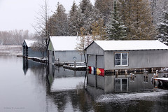 Boathouses On The River (Robert F. Carter) Tags: boathouses boathouse michigan northernmichigan alanson rivers crookedriver inlandwaterway crookedtreephotographicsociety robertcarterphotographycom ©robertcarter puremichigan