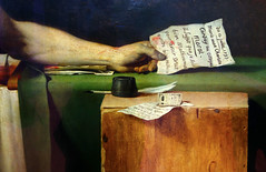 David, The Death of Marat, detail with Letter