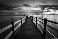Timeless (Nelson Michael) Tags: sunset blackandwhite white seascape black landscape evening landscapes big ray seascapes 10 jetty sony landmark line stop lee malaysia nd za leading sabah kota singh stopper ziess 1635mm pitas a99 sonyalpha marudu bigstopper rgnd