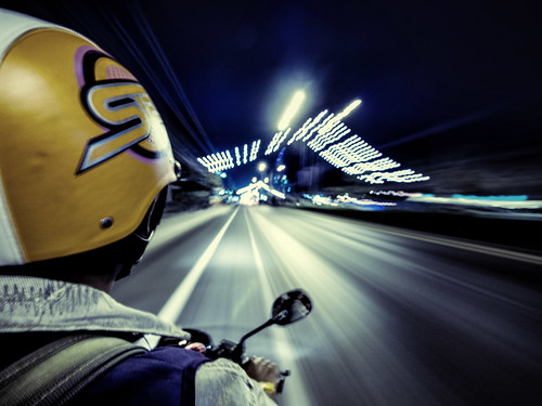Day 52 : Thailand : Hua Hin : Motorcycle Taxi to Nowhere (1sec exposure)