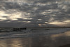 Sunset Coucher de soleil - Cap Ferret Bassin dArcachon Ocean Pecheur Fisherman Beach Plage Waves Vagues Water Eau - Picture Image Photography