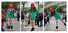 f_paris_xmasgirl (ricksoloway) Tags: christmas xmas paris france streetphotography noel notredame happydance