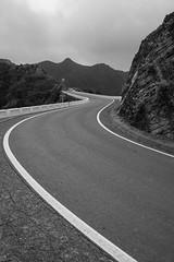 El Bailadero (hal_gorithm) Tags: road bw blakandwhite curves tenerifespaniaspain