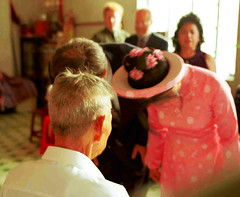 WEDDING (Zixbook.com) Tags: life street leica old wedding people color colour film groom bride photo chinatown vietnamese fuji shot habit bend candid traditional father mother picture documentary marriage daily vietnam parent cult guest tradition straight custom capture saigon marry reala ancestral cholon parentinlaw