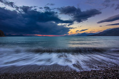 Capturing the movement (Vagelis Pikoulas) Tags: winter sunset sea sky sun beach canon eos kiss december waves wave tokina greece x4 2014 550d psatha 1116mm