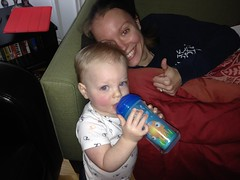 """Paul Drinks from His Sippy Cup for the First Time • <a style=""""font-size:0.8em;"""" href=""""http://www.flickr.com/photos/109120354@N07/16094183862/"""" target=""""_blank"""">View on Flickr</a>"""