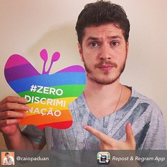Junte-se a Caio Paduan e apoie a #ZeroDiscriminação!